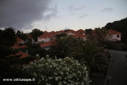 Oleandri e palme ben curati tra i  bungalow