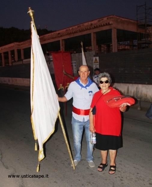 Letizia e Filippo a seguito della Processione