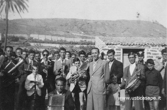 Ustica, la banda musicale per la finale di una partita di calcio
