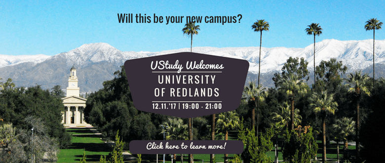UStudy Ontvangt: University of Redlands – Californië | 12.11.'17