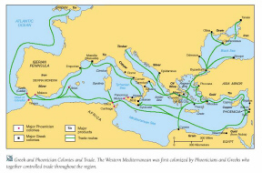 Map: Greek Trading Routes (click to see larger image)