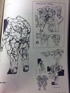 Metal Blade concept sketches from the Art of Metal Gear Solid 2