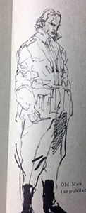Old Man concept sketch from the Art of Metal Gear Solid 2