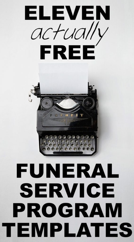 Our Favorite Actually Free Funeral Program Templates Urns Online