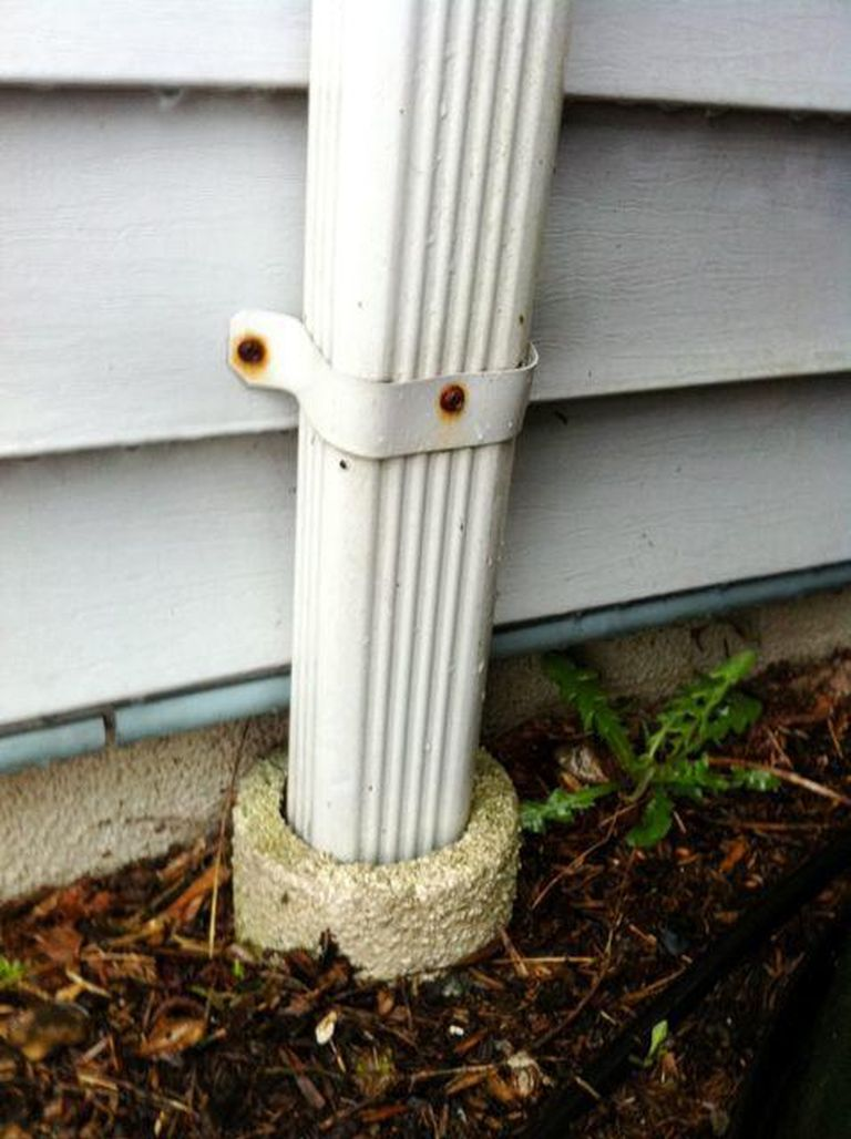 extending downspouts underground