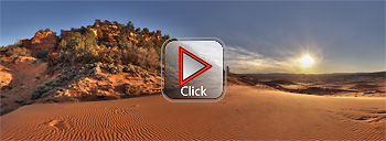 Coral Pink Sand Dunes- Utah, 360 degree panorama