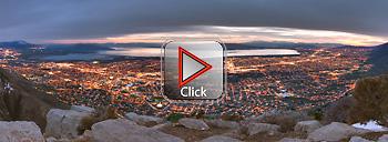 Utah Valley from Squaw Peak 360 degree panorama