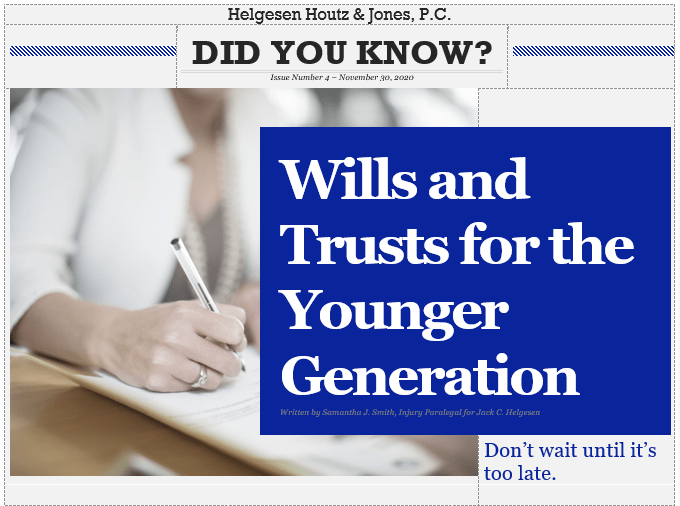 wills and trusts for younger people