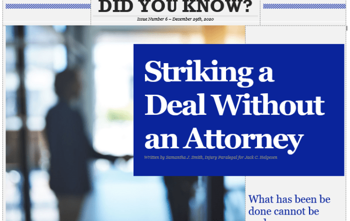 making a deal without lawyer