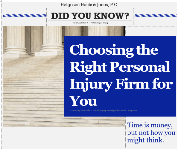 how to choose the right personal injury law firm for you