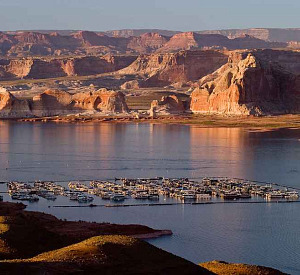 Houseboats in Lake Powell