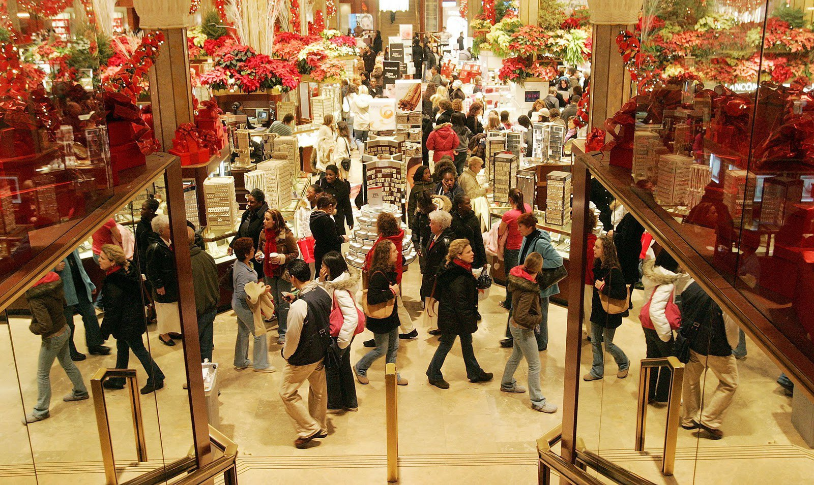 Image result for photos of christmas shoppers