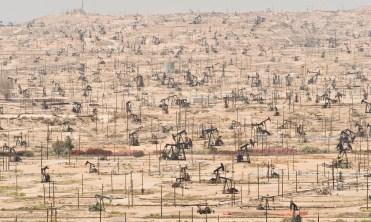 Kern River Oil Wells in California