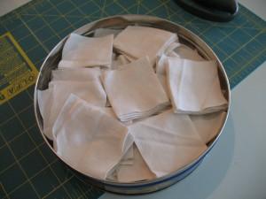 Cut cloth in the tin