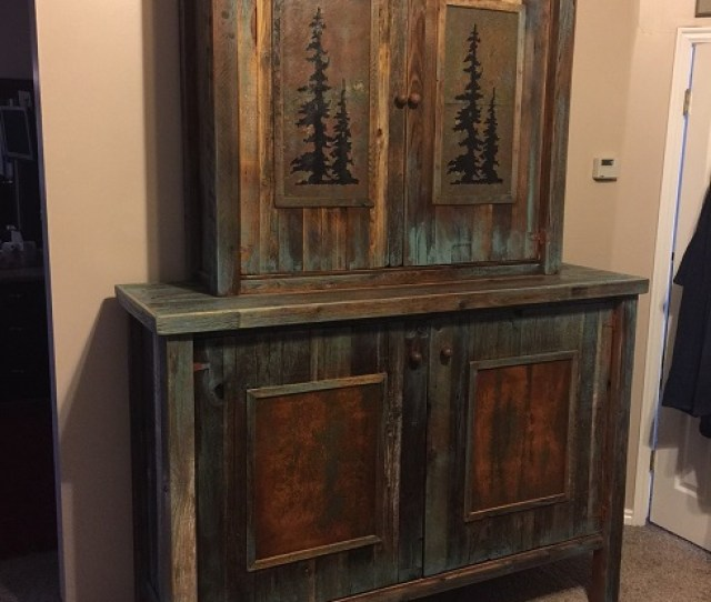 Custom Log And Barnwood Tv Armoires