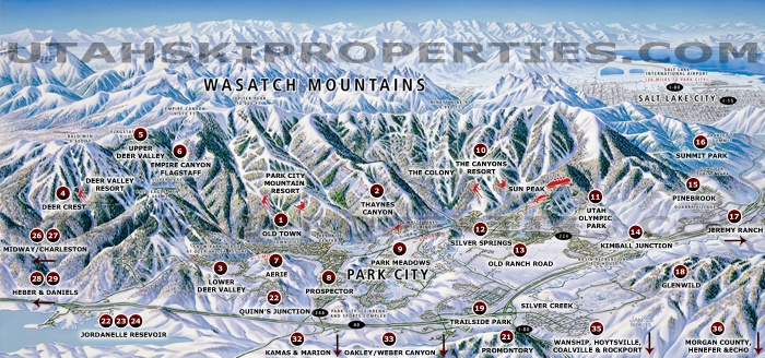 Using our handing park city mountain resort map, see where the base village chairlifts, accommodations, shopping, dining and nightlife are! Park City Utah Maps Real Estate Maps Mls Areas