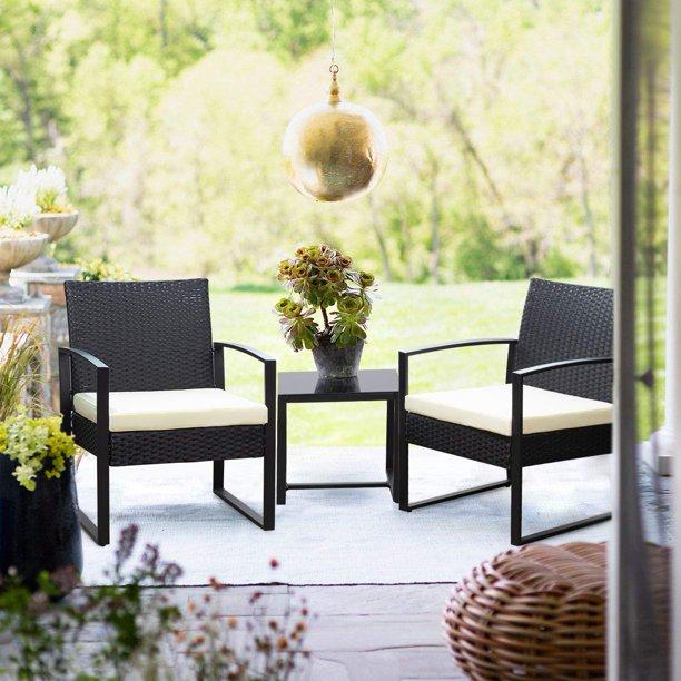 walnew patio furniture cushioned pe