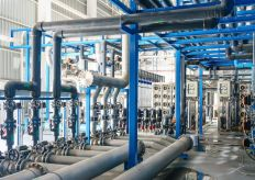 89476030 - large industrial water treatment and boiler room. reverse osmosis plant, ro