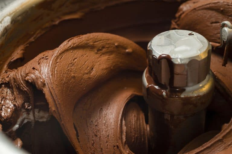 Particolare di un gelato in preparazione