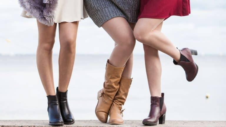 Tre donne con stivali e stivaletti