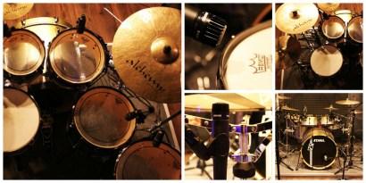 Drum recording session