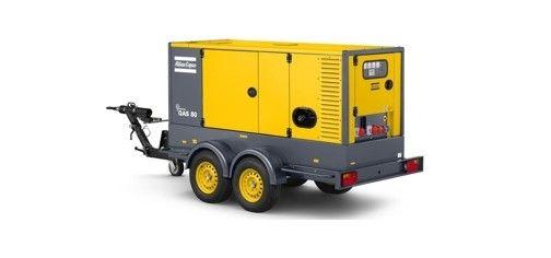 Utleiesenteret dieselaggregat på fire hjul til utleie