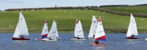 Start of dinghy race at Upper Tamar