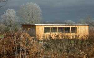 La nouvelle maison en paille en hiver - Utopaille