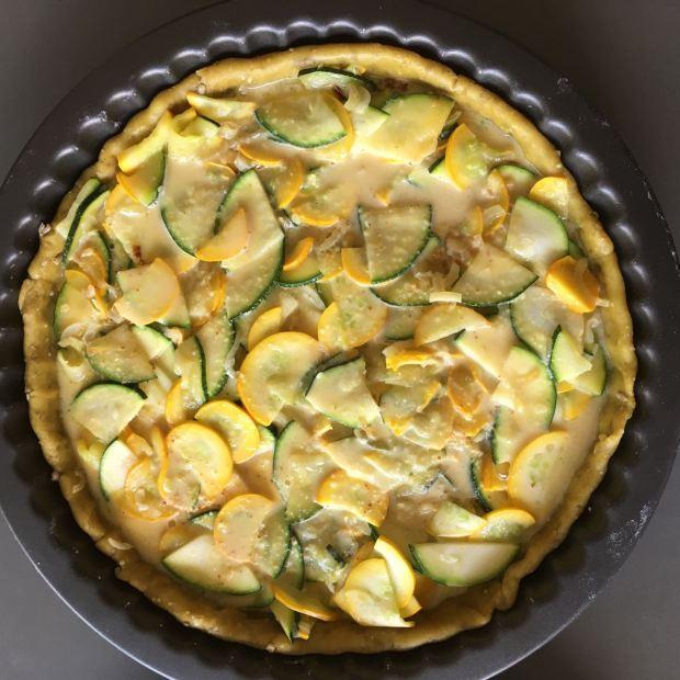tarte coco-courgettes avec migaine