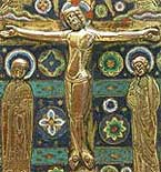 Crocifissione - rame dorato e smalti - 1200-1220 - Musée du Louvre, Parigi