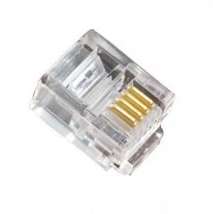 Modulaire 6 pins telefoon connector (6p4c) RJ11