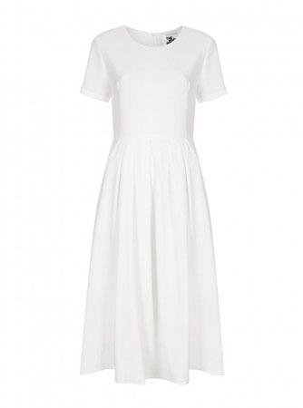 Midi bela haljina