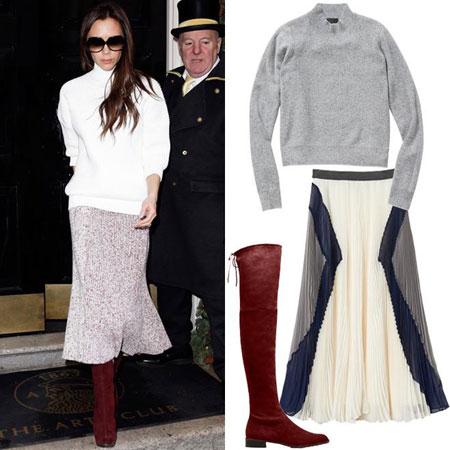 modna kombinacija  Victoria Beckham