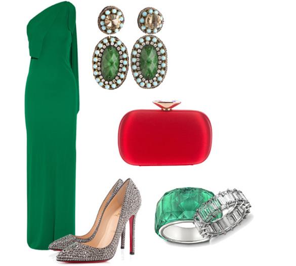 elegantna i sofisticirana kombinacija sa zelenom haljinom