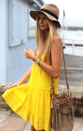 zuta letnja haljina