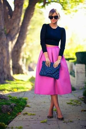 hot pink suknja