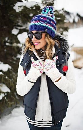 kapa i rukavice zanimljivih dezena