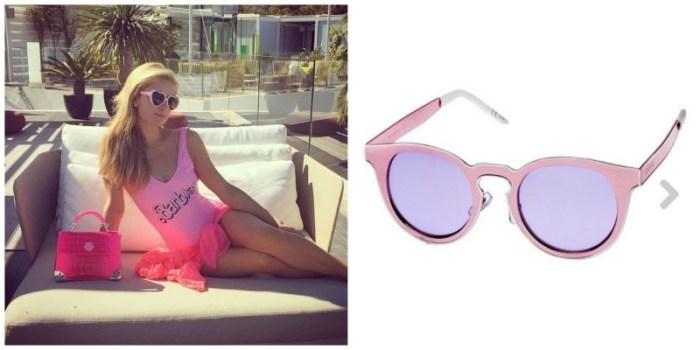 naocare sa svetlim i debelim okvirom Paris Hilton