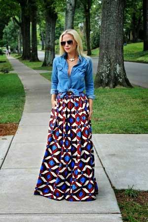 maksi suknja sa geometrijskim printom