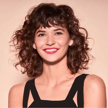 moderna shag- frizure za talasastu kosu