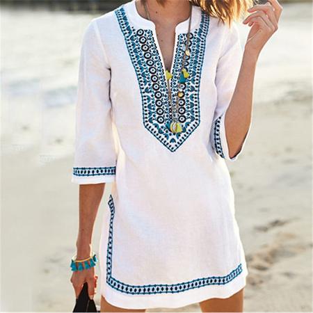 bela haljina u boho stilu