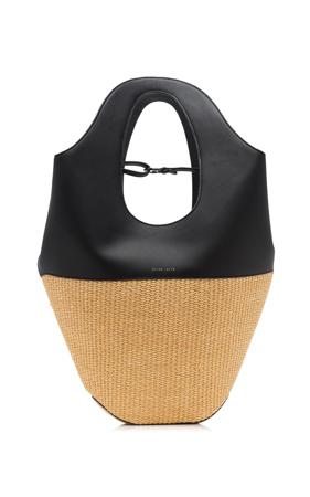 zenske torbe za leto- kombinacija rafije i koze