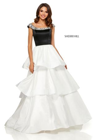 karneri i spustena ramena - haljine za maturu