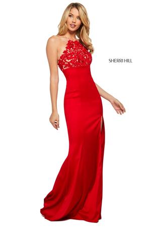 crvene sa prorezom haljine za maturu
