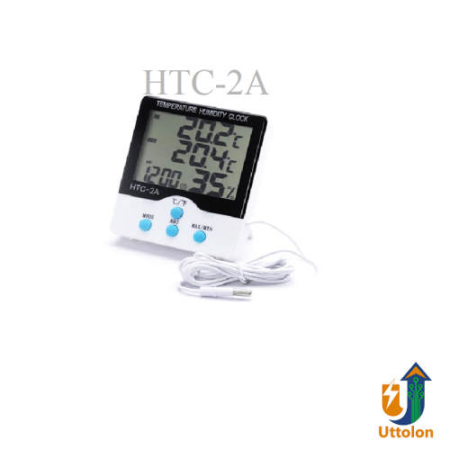 HTC-2A Digital LCD Humidity Meter Temperature With Clock