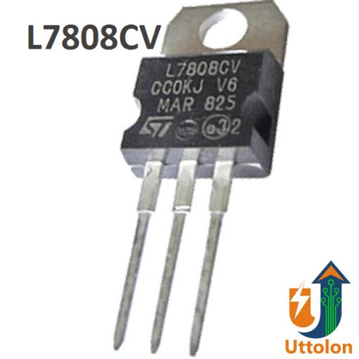 L7808 Voltage Regulator 8V 1.5A uttolon.com