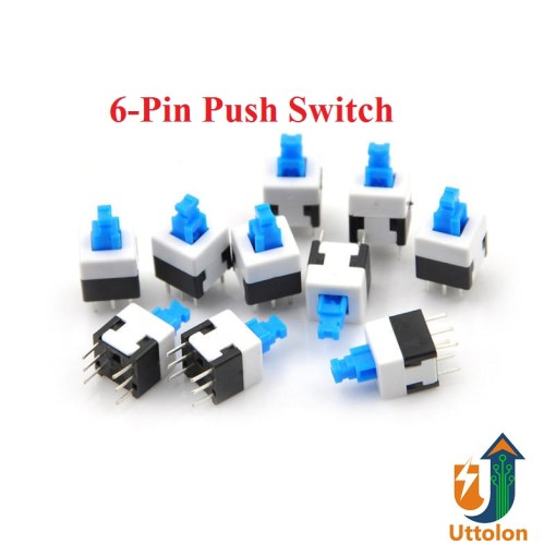 6 Pin Push Switch DPDT Button