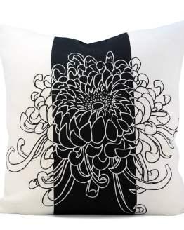 Kikukka Black Cushion Cover
