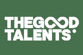 The Good Talents logotyp i vitt