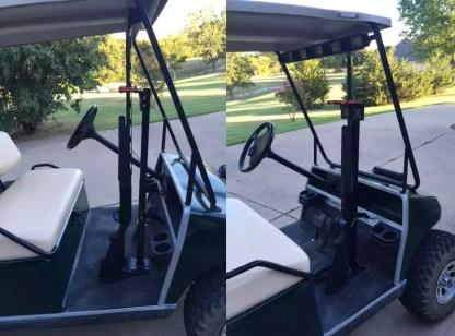 Golf Cart 525UF Universal Floor Mount Double UTV GUN RACK